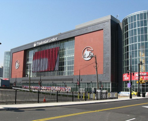 Playing field of the New Jersey Devils Hockey and the New Jersey Nets Basketball organizations.