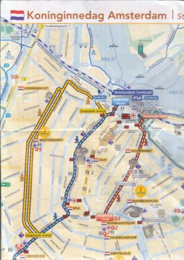 Amsterdam's Map for Queen's Day