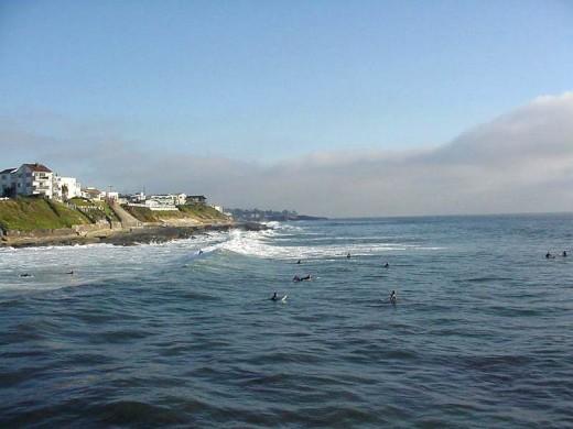 Surfers at Ocean Beach.