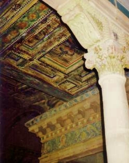 More details of the intricate work regarding ceiling tiles, etc.