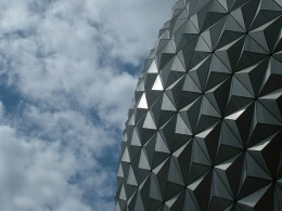 Epcot's enormous signature ball.