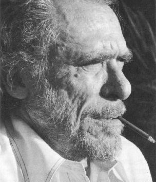 Charles Bukowski, another brilliant poet and pioneer of transgressive fiction, with semi-autobiographical novels like Post Office and Ham on Rye