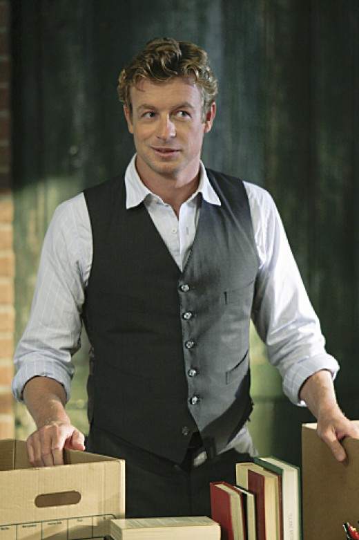 The charismatic Simon Baker as the Mentalist.