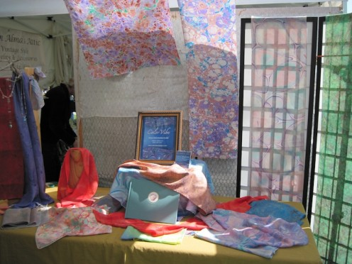 Color Vibe Silk Scarf Display at Day in the Shade, Templeton, 2011
