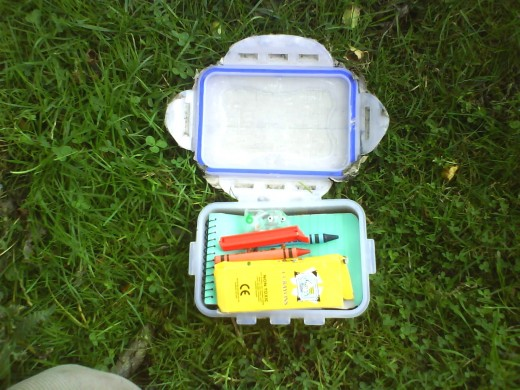 A Typical Geocache Find