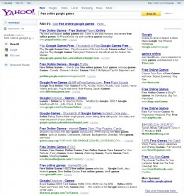 The object of our affection: a single page of search results from a Major Internet Search Engine