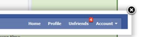 Facebook Unfriend Notification