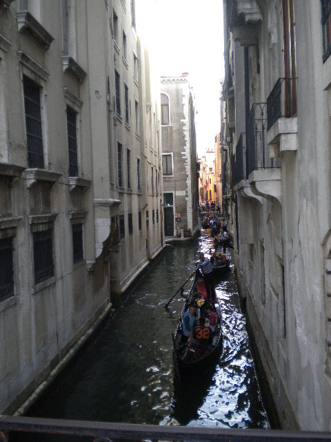 Narrow Canal with Gondola, Venice Tour
