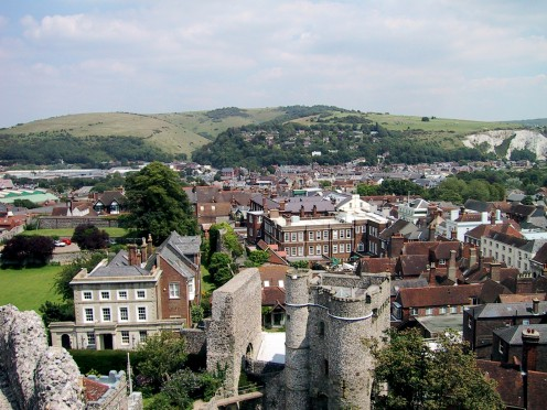 Lewes, seen from the castle