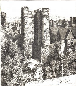 The Barbican, Lewes Castle, from: E. V. Lucas, 'Highways and Byways of Co. Sussex, England'