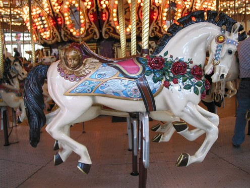 A Carousel Horse at Roger Williams Park in Providence RI.