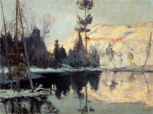 Sunrise, Lac Tremblant (Lake Tremblant) 1922, Maurice G. Cullen