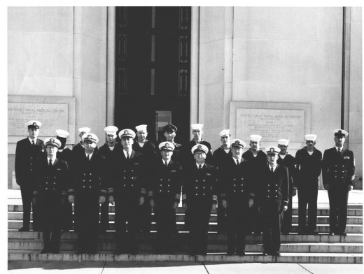 Radioisotope Techniques Class Number 18 - Navy Medical School December 1960. Gus is centered in the back row. Breen is 2nd person to Gus' left (your right).
