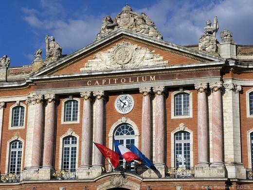 'Capitole' detail, Toulouse, France