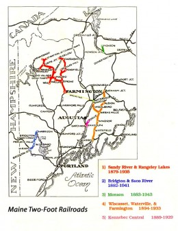 At one time Maine boasted five two foot narrow gauge railways.