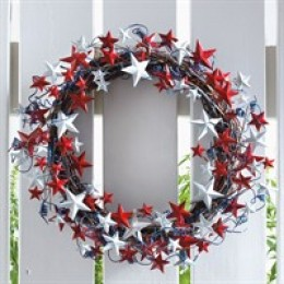 Shooting Star Patriotic Wreath