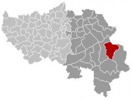 Map location of Buetgenbach