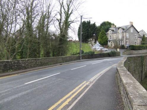 The Dulas bridge at the Welsh-English border