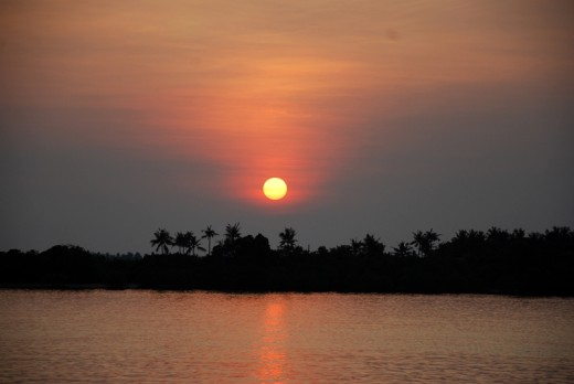 The sun was about to set at Karimun Jawa.