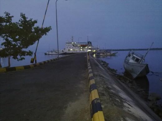 The pier of Karimunjawa seaport.