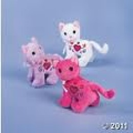 PLUSH CATS FROM THE ORIENTAL TRADING COMPANY