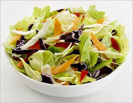 Eat salad before the essential dish
