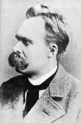 Friedrich Nietzsche. Mustache set to stun.