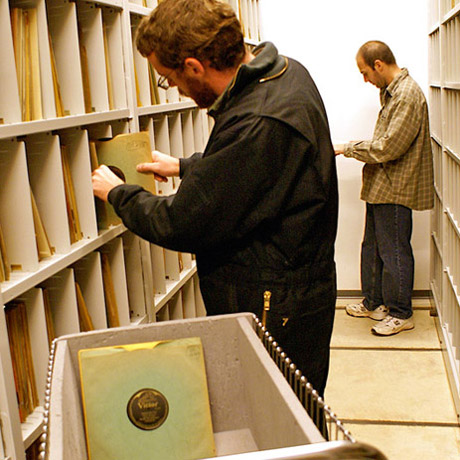 The collection of 78 rpm records that had to be digitalized.