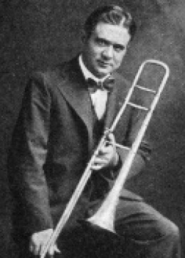 Homer Rodeheaver (18801955) was a trombone-playing, baritone-voiced evangelist who served as music director for the preacher Billy Sunday.
