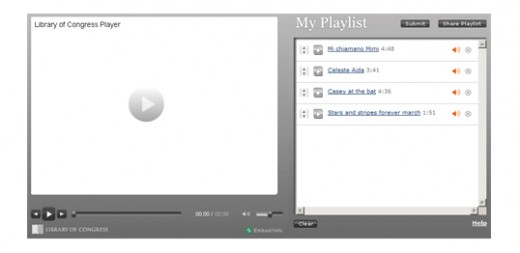 Make a playlist and listen to your selections.