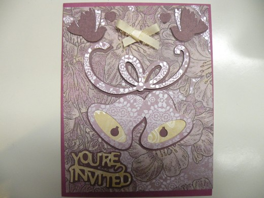 A Cricut Wedding Invitation