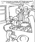 Coloring pages and games help you discuss the emergency with your