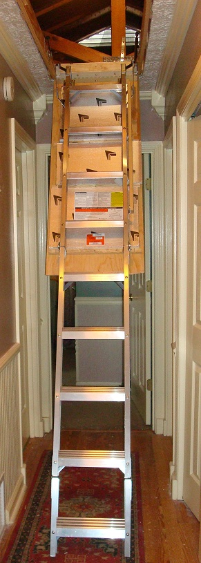 Create easy access to your attic with new attic steps