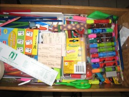 BAH!  I hate this drawer.  It's a clutter collector