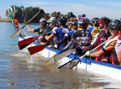 Dragon Boat ride across the Vaal Dam