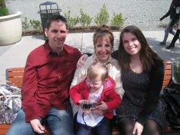 Our son Alex, me, my daughter-in-law Kristen and Miss Kaylee
