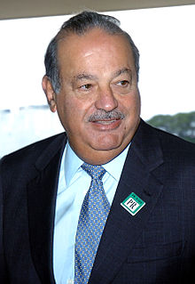 3)  CARLOS SLIM HELU, 69 years old, $35 B Mexico, Telmex, America Movil