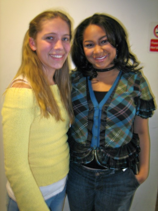 Child actor at Disney Studios with Raven Symone.