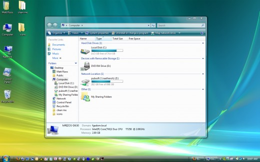 Windows Vista Desktop That Is Not Optimized