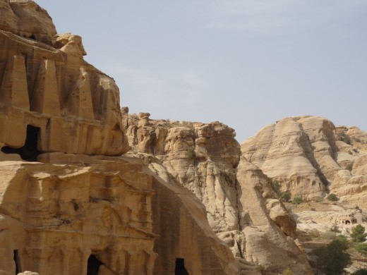 From the Petra ruins