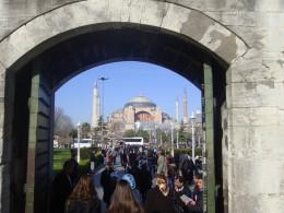 Majestically Hagia Sophia dominates horizon