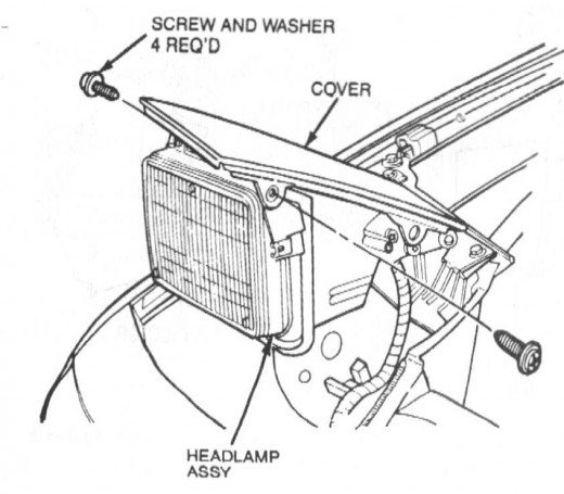 Headlight Removal Diagram