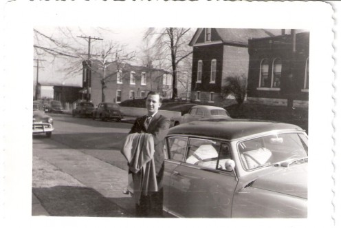Dad and his Nash automobile