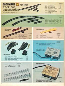 Inside the 1970 Bachmann Train Catalog.