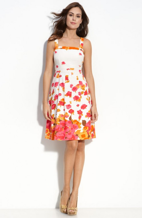 A bright and cheerful print sundress from Adrianna Papell available at Nordstrom.