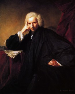 Laurence Sterne; By Joshua Reynolds (died 1792) [Public domain or Public domain], via Wikimedia Commons