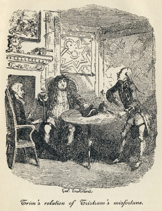 An illustration from Tristram Shandy; By George Cruikshank (17921878) [Public domain], via Wikimedia Commons