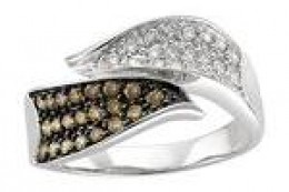 BROWN DIAMOND AND WHITE DIAMOND RING