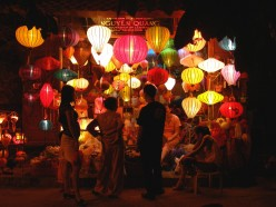 Hand made lanterns for sale in Hoi An
