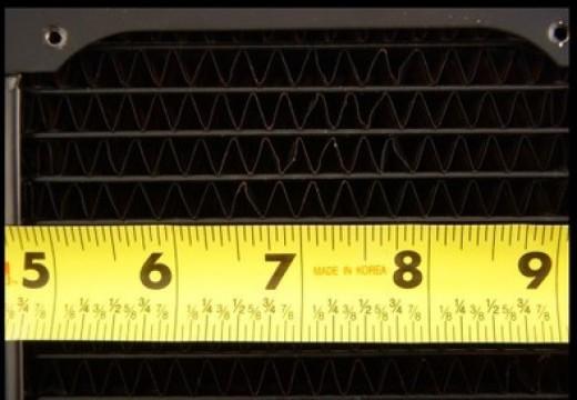 Measuring Fins Per Inch